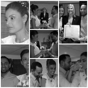 Imágenes de una sencilla y emotiva ceremonia, de una linda pareja venezolana que viajó a New York, especialmente para casarse.