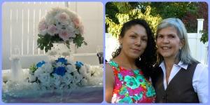 Decoracion de la boda y mi amiga Silvia, organizadora de la Boda junto a mi.