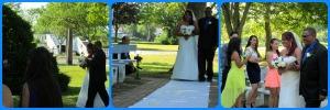La novia entrando del brazo de su padre