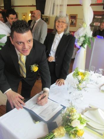 Firma del novio