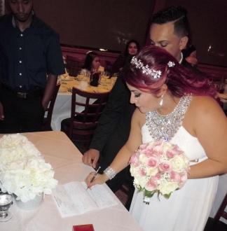 Firma de la novia