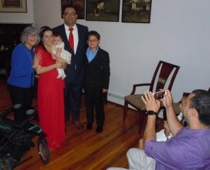 Con los recien casados y sus hijos