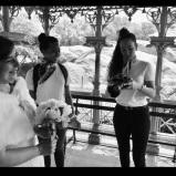 Marta y Jireh anunciando su compromiso