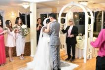 Primer beso de recién casados